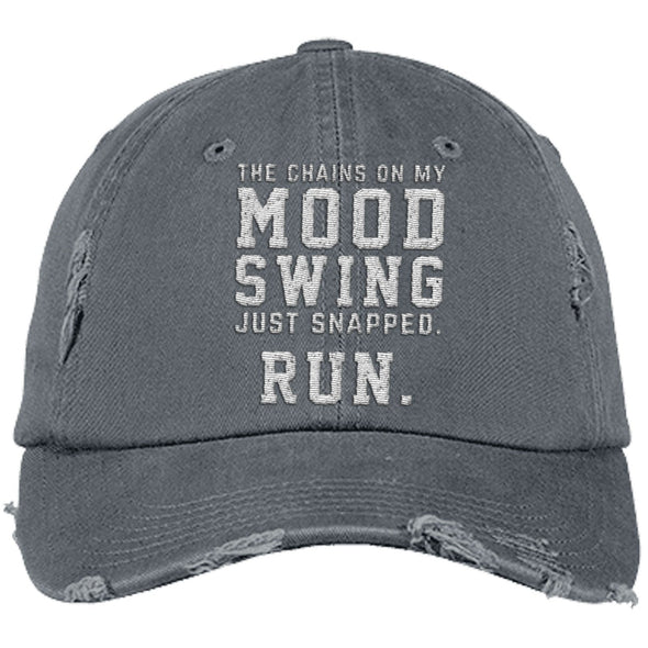 The Chains on my Mood Swing Just Snapped. Run Cap Apparel CustomCat Distressed Dad Cap Nickel One Size