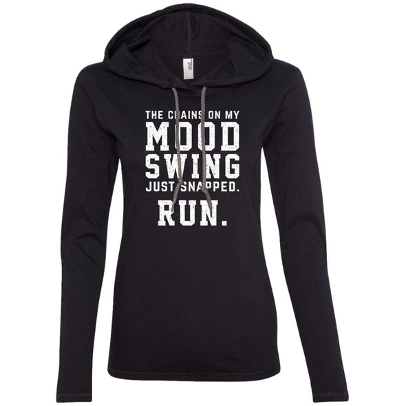 The Chains On My Mood Swing Just Snapped. Run Hoodie T-Shirts CustomCat Black/Dark Grey S