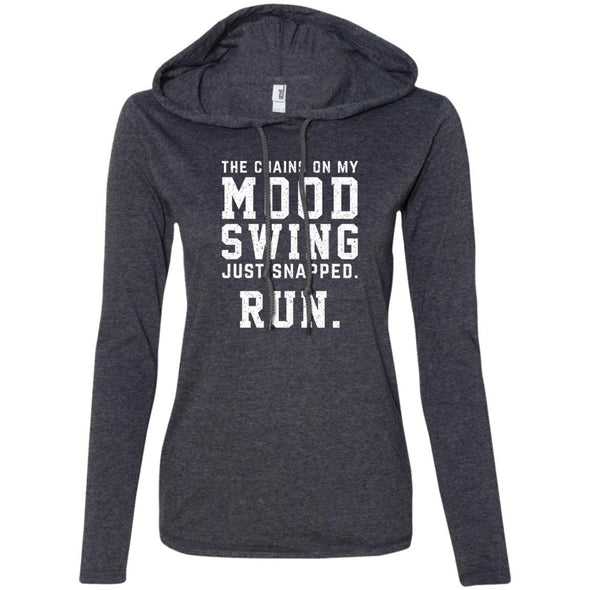 The Chains On My Mood Swing Just Snapped. Run Hoodie T-Shirts CustomCat Heather Dark Grey/Dark Grey S