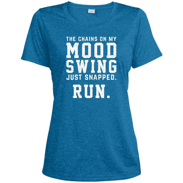 The Chains On My Mood Swing Just Snapped. Run Tee T-Shirts CustomCat Blue Wake Heather X-Small