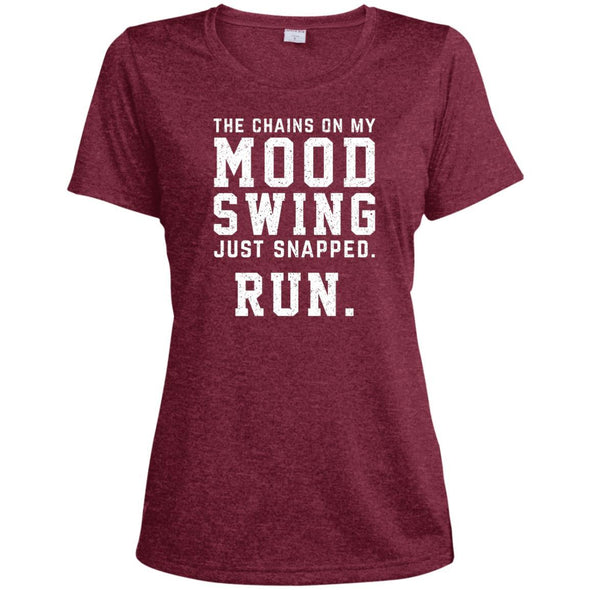 The Chains On My Mood Swing Just Snapped. Run Tee T-Shirts CustomCat Cardinal Heather X-Small