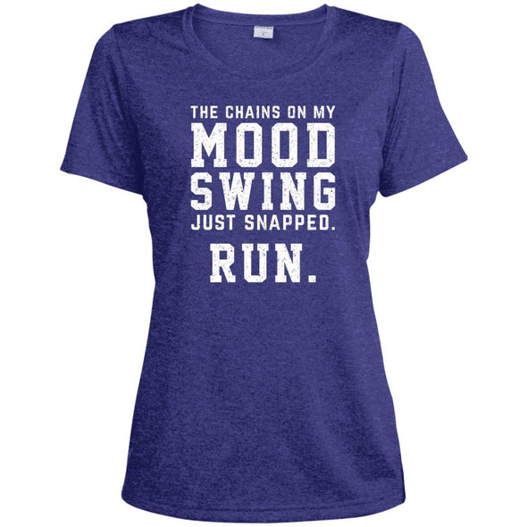 The Chains On My Mood Swing Just Snapped. Run Tee T-Shirts CustomCat Cobalt Heather X-Small