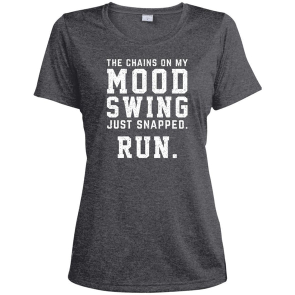 The Chains On My Mood Swing Just Snapped. Run Tee T-Shirts CustomCat Graphite Heather X-Small