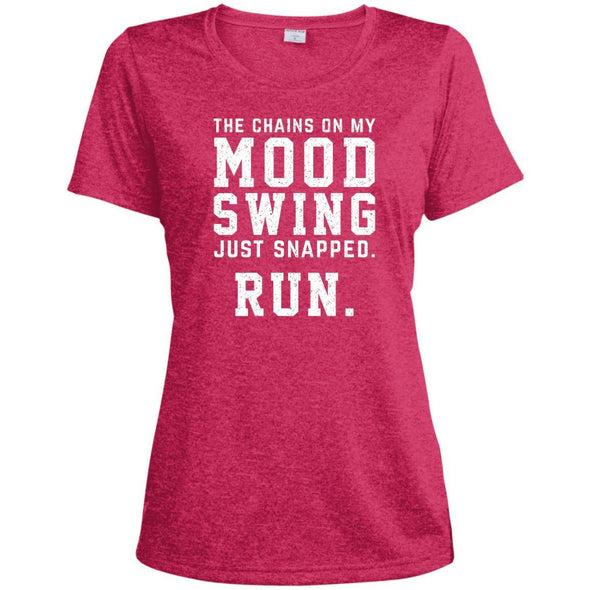 The Chains On My Mood Swing Just Snapped. Run Tee T-Shirts CustomCat Pink Raspberry Heather X-Small