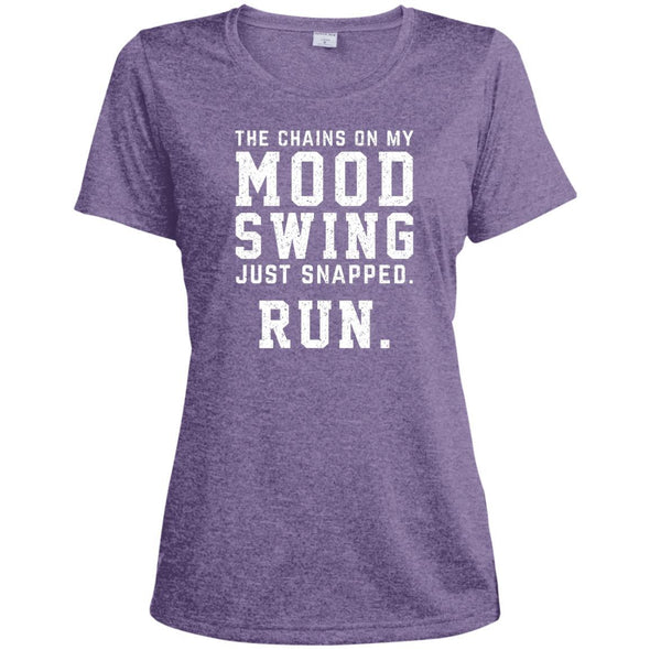 The Chains On My Mood Swing Just Snapped. Run Tee T-Shirts CustomCat Purple Heather X-Small