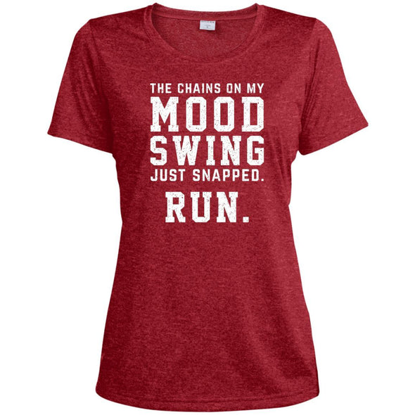 The Chains On My Mood Swing Just Snapped. Run Tee T-Shirts CustomCat Scarlet Heather X-Small