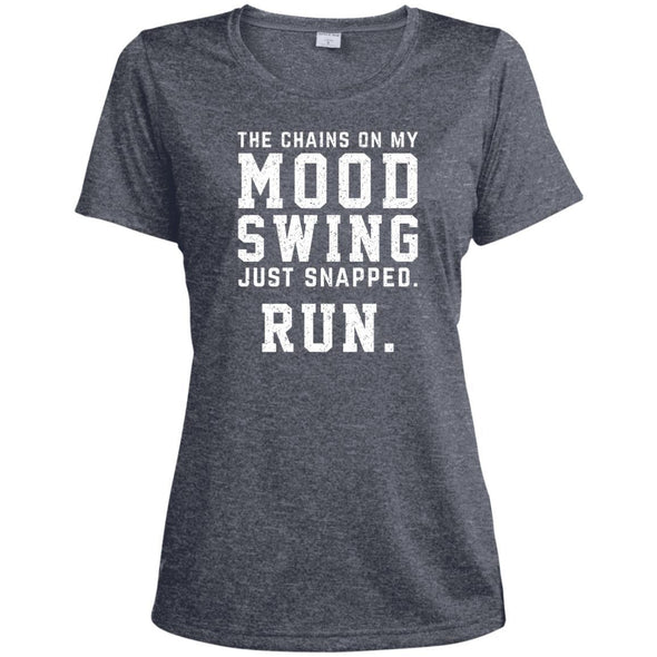 The Chains On My Mood Swing Just Snapped. Run Tee T-Shirts CustomCat True Navy Heather X-Small