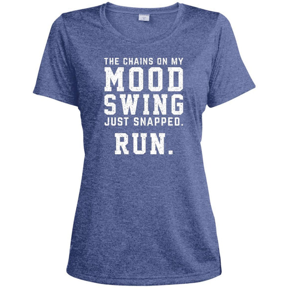 The Chains On My Mood Swing Just Snapped. Run Tee T-Shirts CustomCat True Royal Heather X-Small