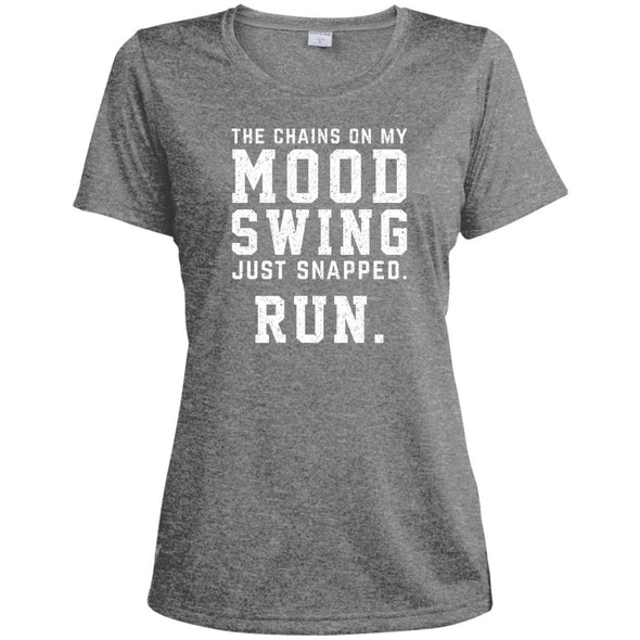 The Chains On My Mood Swing Just Snapped. Run Tee T-Shirts CustomCat Vintage Heather X-Small