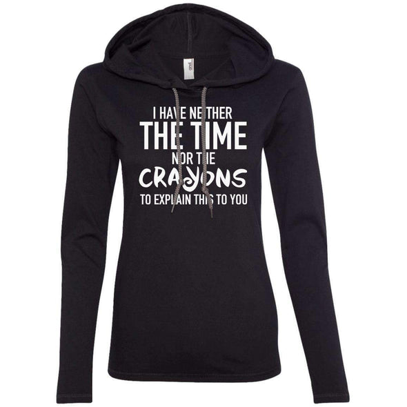 The Crayons to Explain T-Shirts CustomCat Black/Dark Grey S