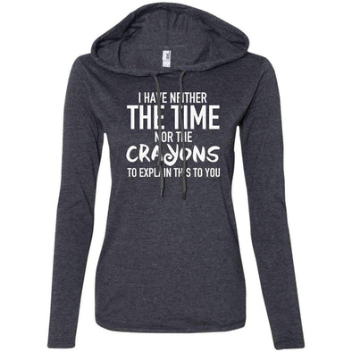 The Crayons to Explain T-Shirts CustomCat Heather Dark Grey/Dark Grey S