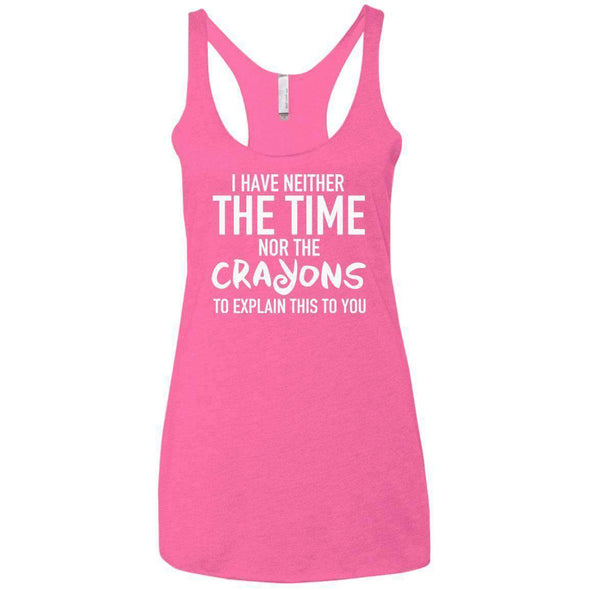The Crayons to Explain T-Shirts CustomCat Vintage Pink X-Small