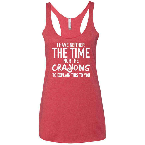 The Crayons to Explain T-Shirts CustomCat Vintage Red X-Small