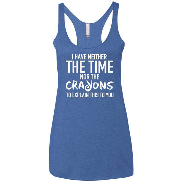 The Crayons to Explain T-Shirts CustomCat Vintage Royal X-Small