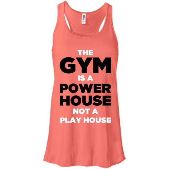 The Gym is a Power House Apparel CustomCat Bella + Canvas Flowy Racerback Tank Coral X-Small