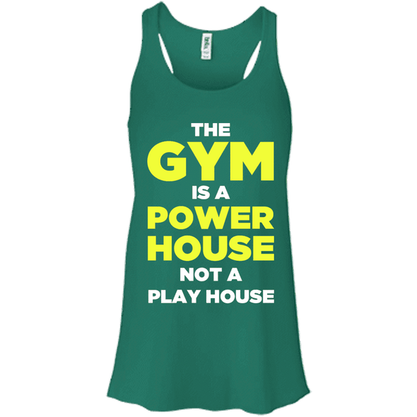 The Gym is a Power House Apparel CustomCat Bella + Canvas Flowy Racerback Tank Kelly X-Small