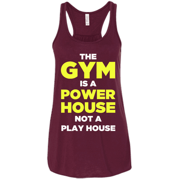 The Gym is a Power House Apparel CustomCat Bella + Canvas Flowy Racerback Tank Maroon X-Small