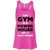 The Gym is a Power House Apparel CustomCat Bella + Canvas Flowy Racerback Tank Neon Pink X-Small
