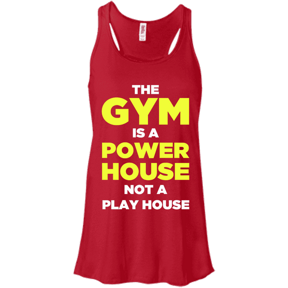 The Gym is a Power House Apparel CustomCat Bella + Canvas Flowy Racerback Tank Red X-Small