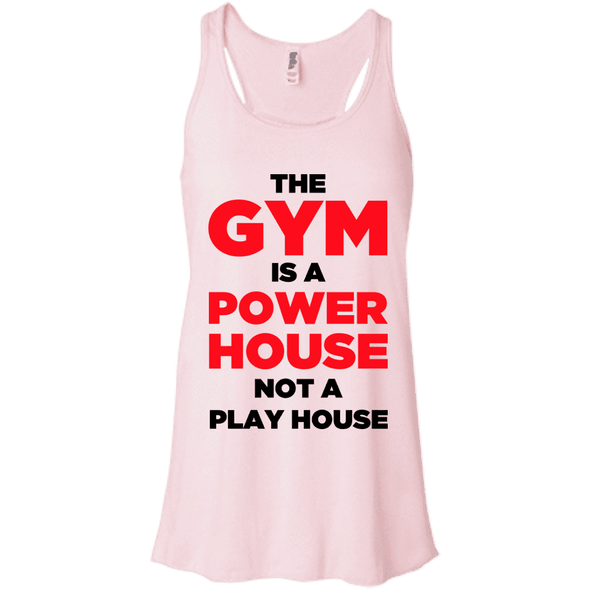 The Gym is a Power House Apparel CustomCat Bella + Canvas Flowy Racerback Tank Soft Pink X-Small