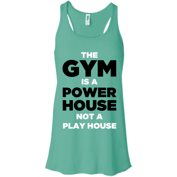 The Gym is a Power House Apparel CustomCat Bella + Canvas Flowy Racerback Tank Teal X-Small