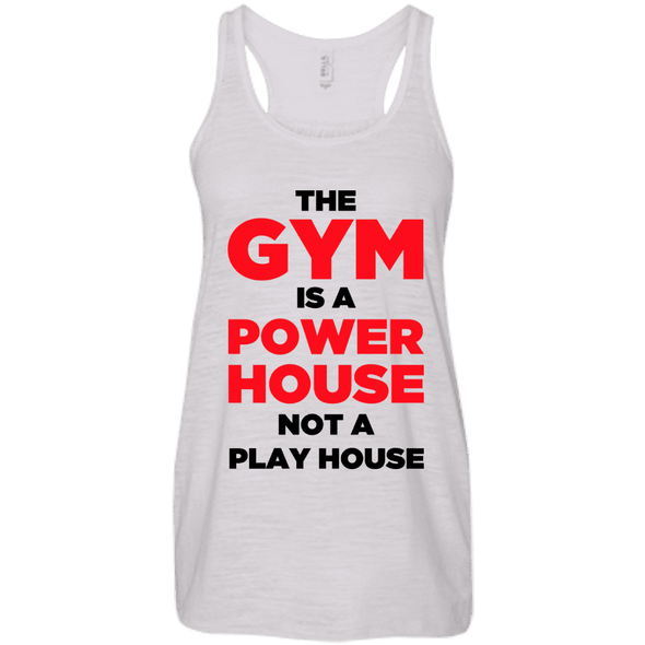The Gym is a Power House Apparel CustomCat Bella + Canvas Flowy Racerback Tank Vintage White X-Small