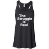 The Struggle is Real Apparel CustomCat B8800 Bella + Canvas Flowy Racerback Tank Black X-Small