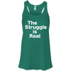 The Struggle is Real Apparel CustomCat B8800 Bella + Canvas Flowy Racerback Tank Kelly X-Small