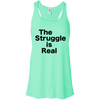 The Struggle is Real Apparel CustomCat B8800 Bella + Canvas Flowy Racerback Tank Mint X-Small