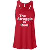 The Struggle is Real Apparel CustomCat B8800 Bella + Canvas Flowy Racerback Tank Red X-Small