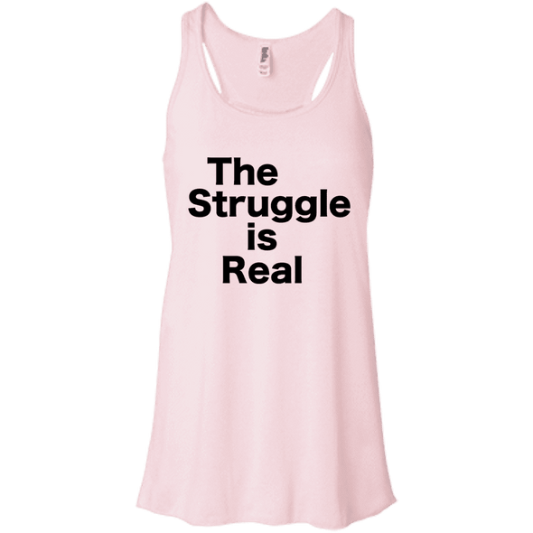 The Struggle is Real Apparel CustomCat B8800 Bella + Canvas Flowy Racerback Tank Soft Pink X-Small