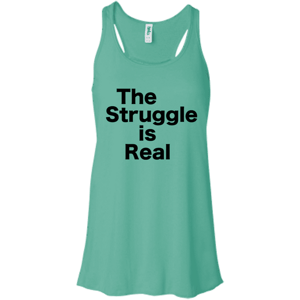The Struggle is Real Apparel CustomCat B8800 Bella + Canvas Flowy Racerback Tank Teal X-Small