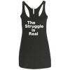 The Struggle is Real Apparel CustomCat NL6733 Next Level Ladies' Triblend Racerback Tank Vintage Black X-Small