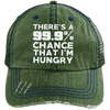 There is 99.9% Chance That I'm Hungry Hats CustomCat Dark Green/Navy One Size