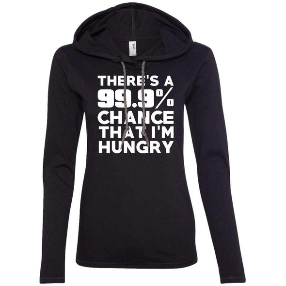 There is 99.9% Chance That I'm Hungry T-Shirts CustomCat Black/Dark Grey Small