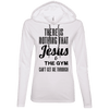 There is Nothing that Jesus & the Gym Can't Get Me Through Apparel CustomCat Ladies LS T-Shirt Hoodie White Small