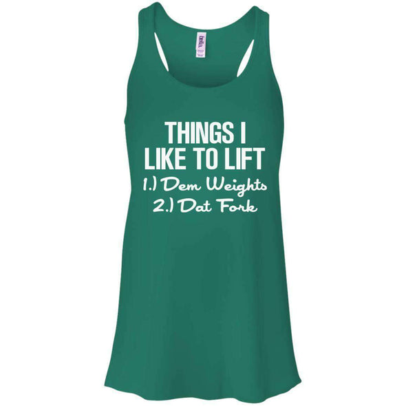 Things I Like to Lift T-Shirts CustomCat Kelly Green X-Small