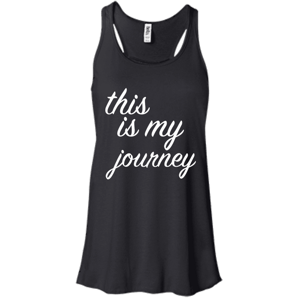 This is My Journey Apparel CustomCat B8800 Bella + Canvas Flowy Racerback Tank Black X-Small