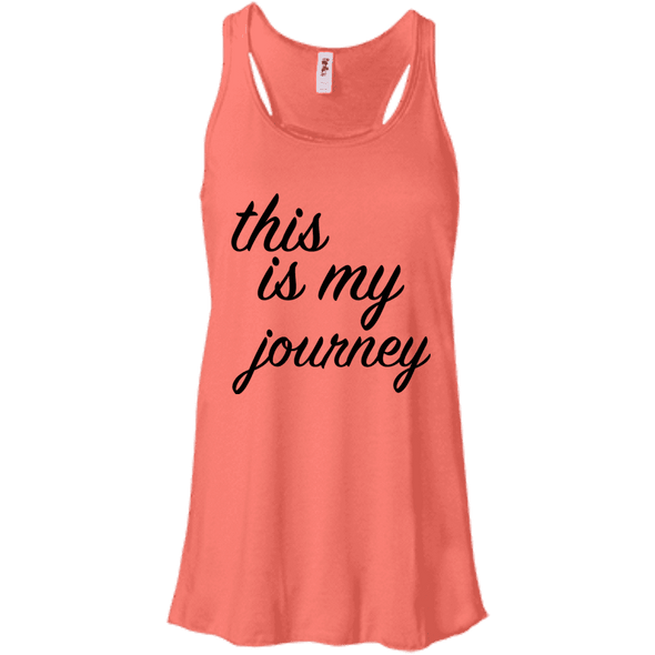 This is My Journey Apparel CustomCat B8800 Bella + Canvas Flowy Racerback Tank Coral X-Small