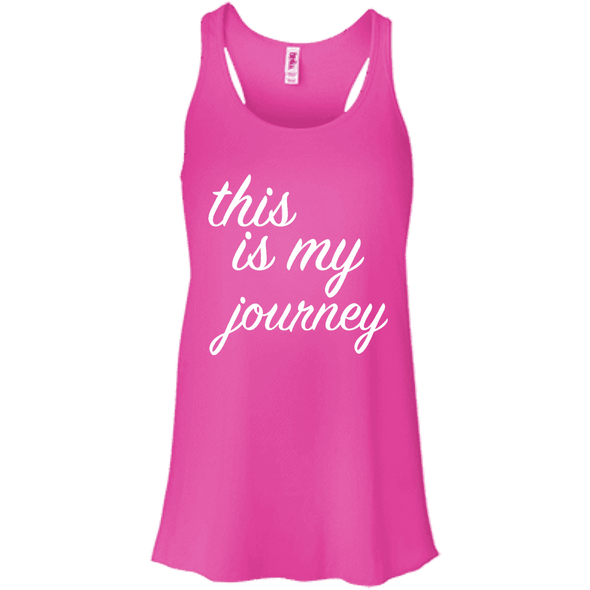 This is My Journey Apparel CustomCat B8800 Bella + Canvas Flowy Racerback Tank Neon Pink X-Small