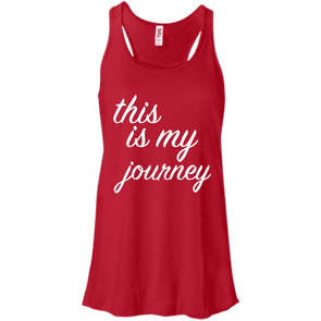 This is My Journey Apparel CustomCat B8800 Bella + Canvas Flowy Racerback Tank Red X-Small