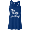 This is My Journey Apparel CustomCat B8800 Bella + Canvas Flowy Racerback Tank True Royal X-Small