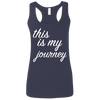 This is My Journey Apparel CustomCat G645RL Gildan Ladies' Softstyle Racerback Tank Navy Small