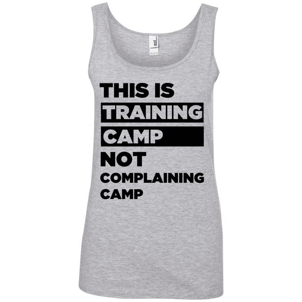 This is Training Camp (Cotton Tanks) Apparel CustomCat Ladies' 100% Ringspun Cotton Tank Top Heather Grey Small
