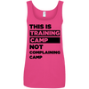 This is Training Camp (Cotton Tanks) Apparel CustomCat Ladies' 100% Ringspun Cotton Tank Top Hot Pink Small