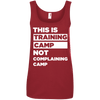 This is Training Camp (Cotton Tanks) Apparel CustomCat Ladies' 100% Ringspun Cotton Tank Top Red Small