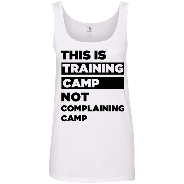 This is Training Camp (Cotton Tanks) Apparel CustomCat Ladies' 100% Ringspun Cotton Tank Top White Small