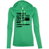This is Training Camp (Hoodies) Apparel CustomCat Ladies' LS T-Shirt Hoodie Heather Green/Neon Yellow Small