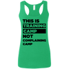 This is Training Camp (Softstyle Tank) Apparel CustomCat Ladies Softstyle Racerback Tank Heather Irish Green Small