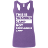 This is Training Camp (Softstyle Tank) Apparel CustomCat Ladies Softstyle Racerback Tank Heather Purple Small